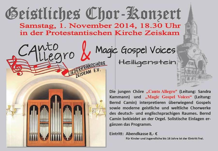 Canto Allegro Zeiskam - Kirchenkonzert mit Heiligenstein